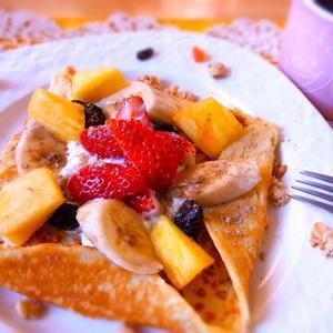 フルーツヨーグルトのパンケーキガレットのレシピ