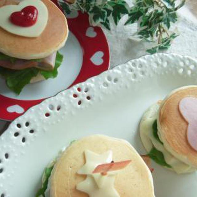 パンケーキDEお好み ハンバーガー 大人用はピリッと「からし」をきかせてのレシピ