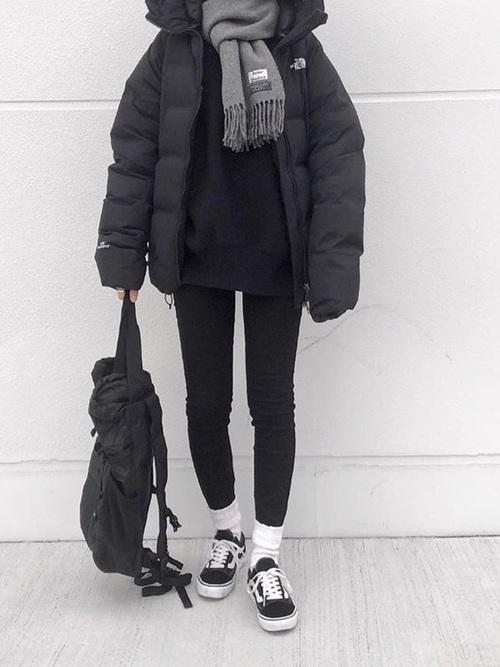 ダウンジャケットを使った1月の服装