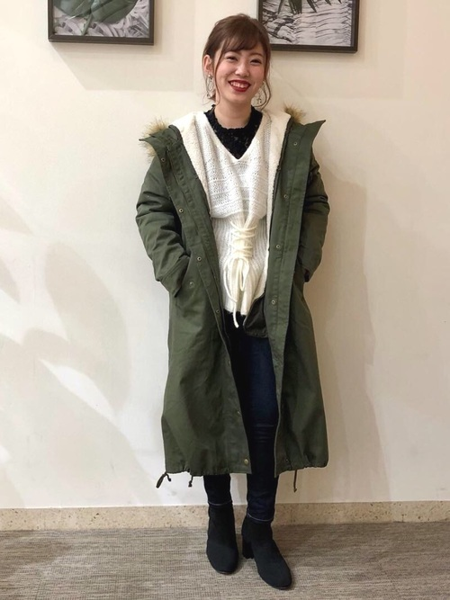 モッズコートを使った1月の服装