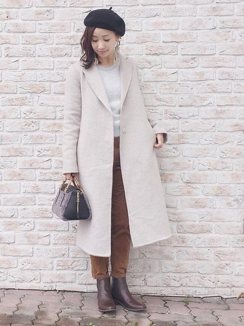 チェスターコートを使った1月の服装