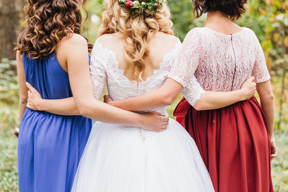 花嫁と友達