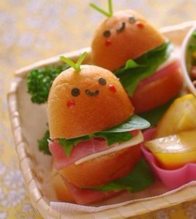 ミニサイズのサンドイッチ
