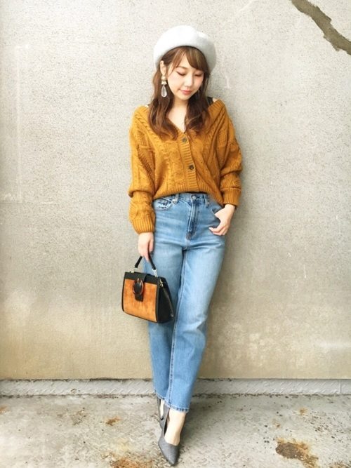 黄色×水色×オレンジ