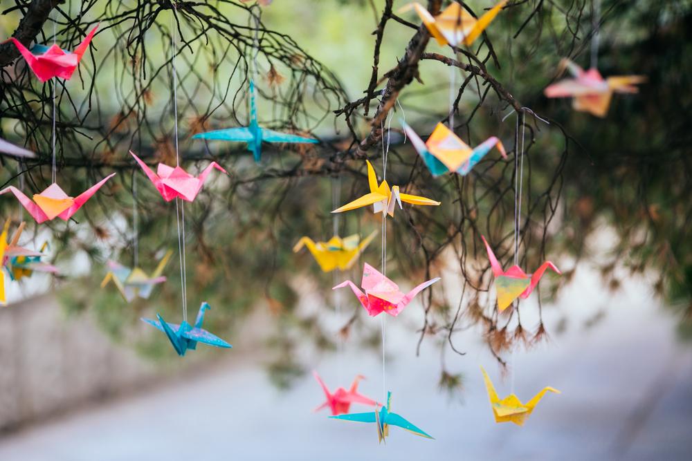 ウェルカムツリーの鶴
