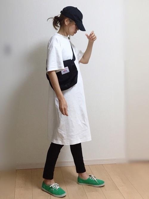 Tシャツワンピを使ったロックライブの服装