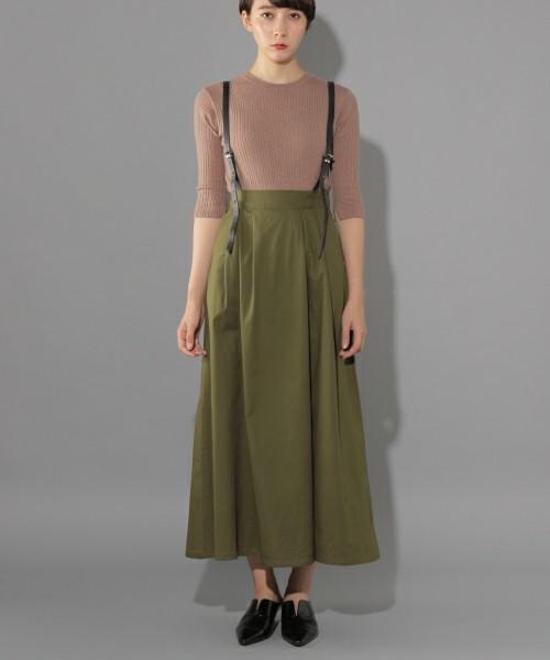 合皮サス付きフレアスカート