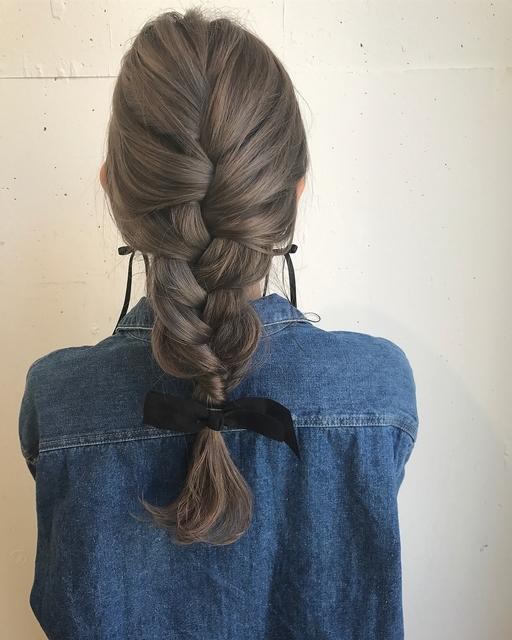 編み下ろしヘア