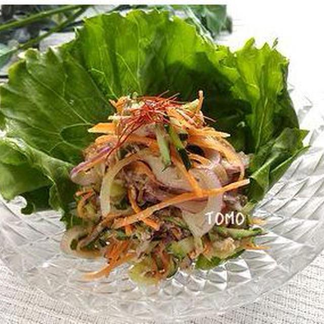 ニンニク香る!サバ缶のナムル風サラダのレシピ
