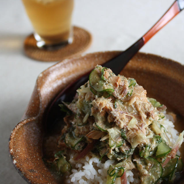サバ缶でしゃきしゃき冷や汁のレシピ