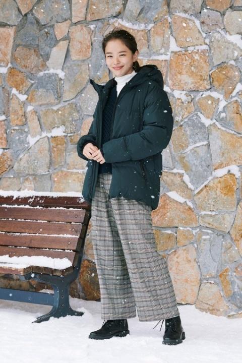 GUのニットアップセーターを使った冬の着回しコーデ
