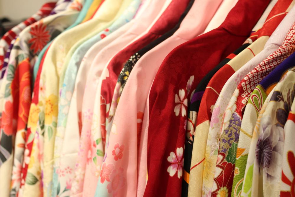 色々な柄の浴衣