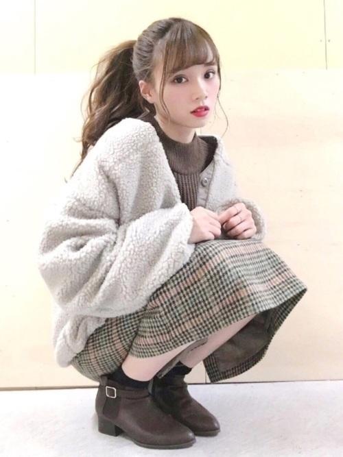 冬の可愛いデート服コーデ