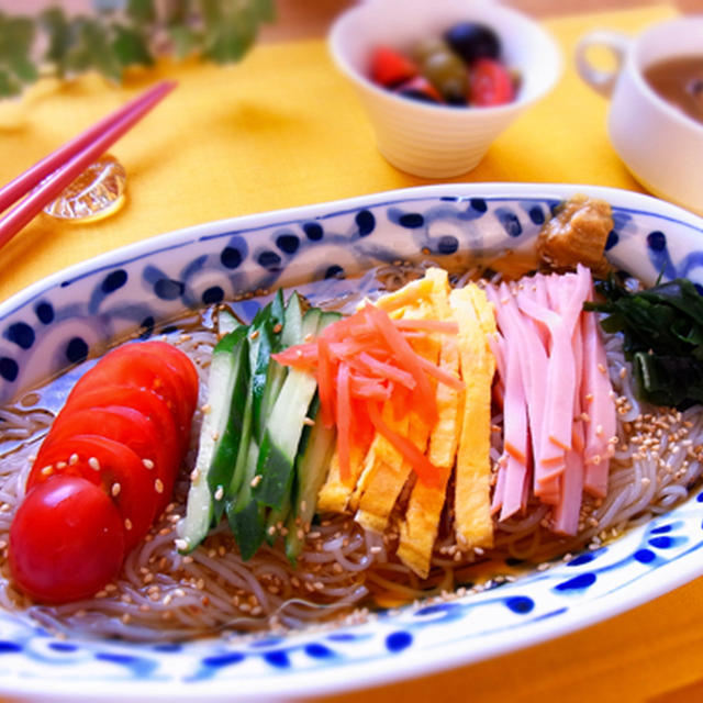 こんにゃく麺の冷やし中華