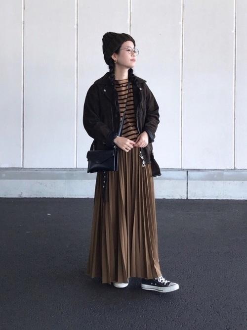 ライダースジャケットを使った13度の服装