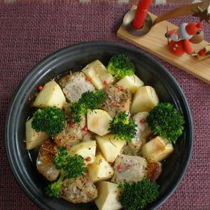 豚肉とりんごの香草焼きのレシピ