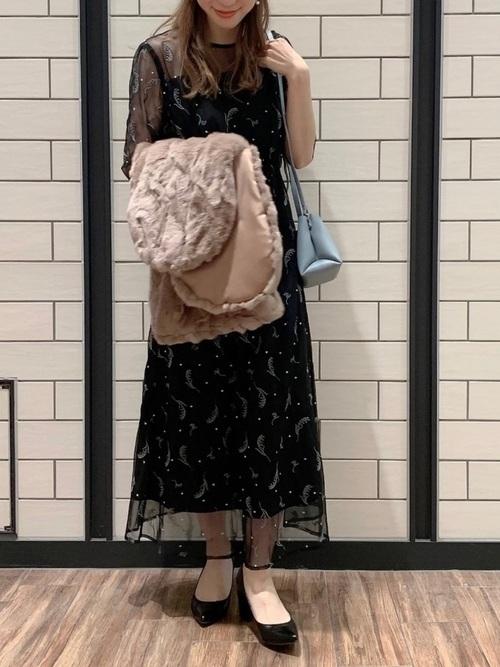 黒ドレスを使った神前式の服装