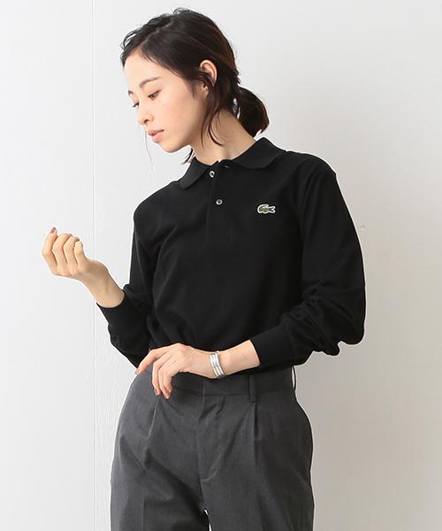 黒のポロシャツを使ったコーデ
