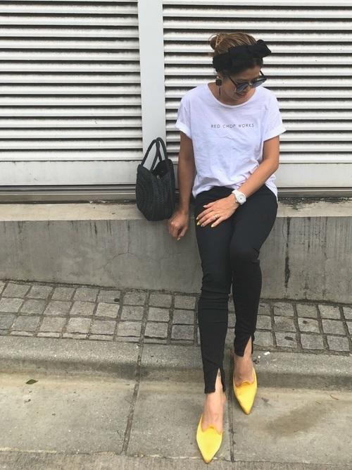 Tシャツ×パンツ