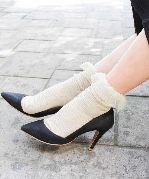 ハイヒール×靴下