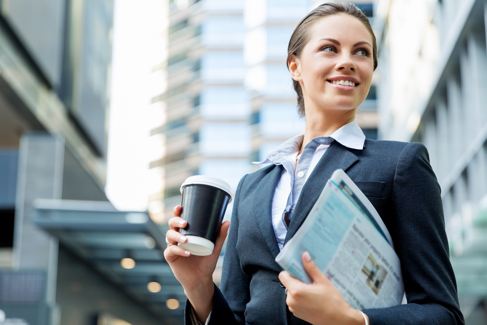 ビジネスマナーを守っている女性