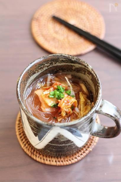チゲの春雨スープ
