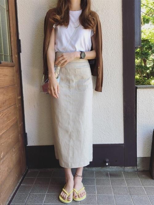 白Tを使った新潟の服装