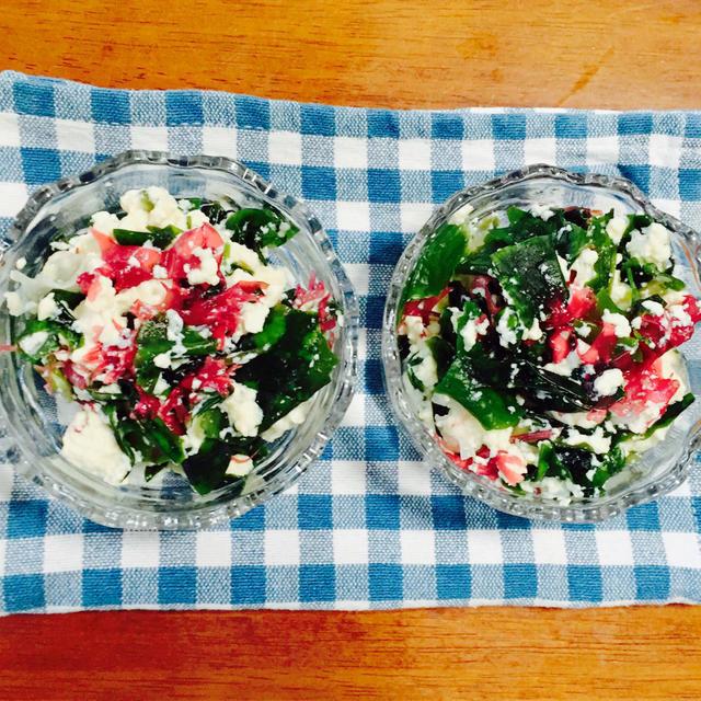 海藻豆腐サラダ