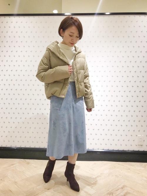 スカートスカートの冬コーデ