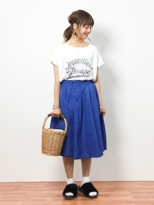 青×白コーデ
