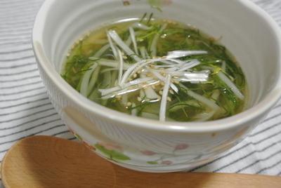 おかひじきともやしの食べるゴマスープのレシピ