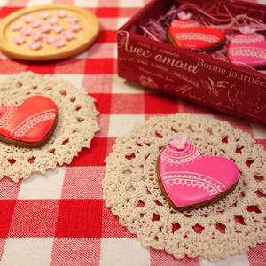 バレンタインアイシングミントココアクッキーのレシピ