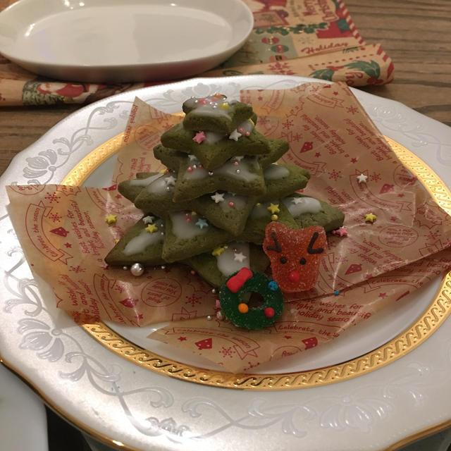 クリスマスにツリークッキーのレシピ