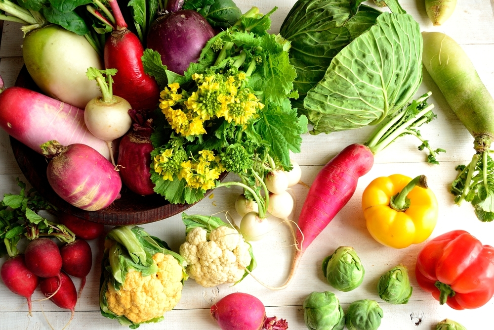 何種類もの野菜