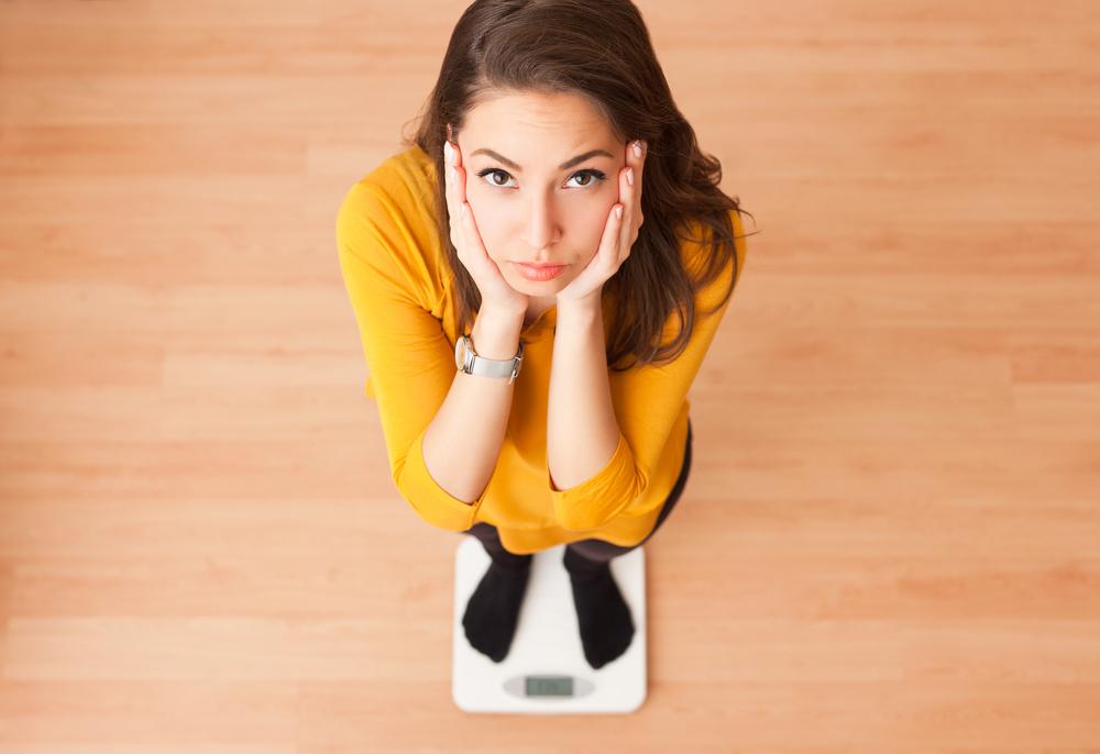 体重を気にしている女性