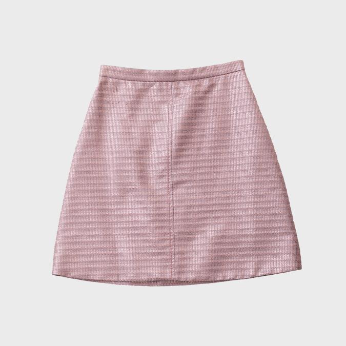カルヴェンのピンクラメミニスカート