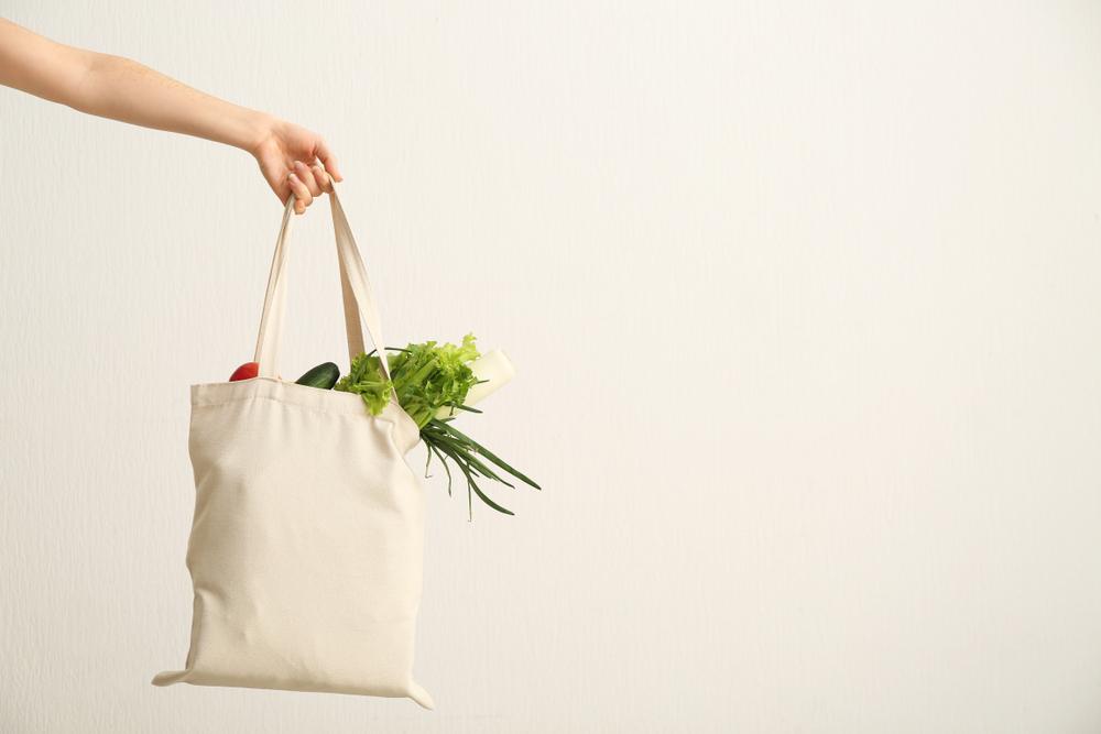 野菜とエコバッグの写真