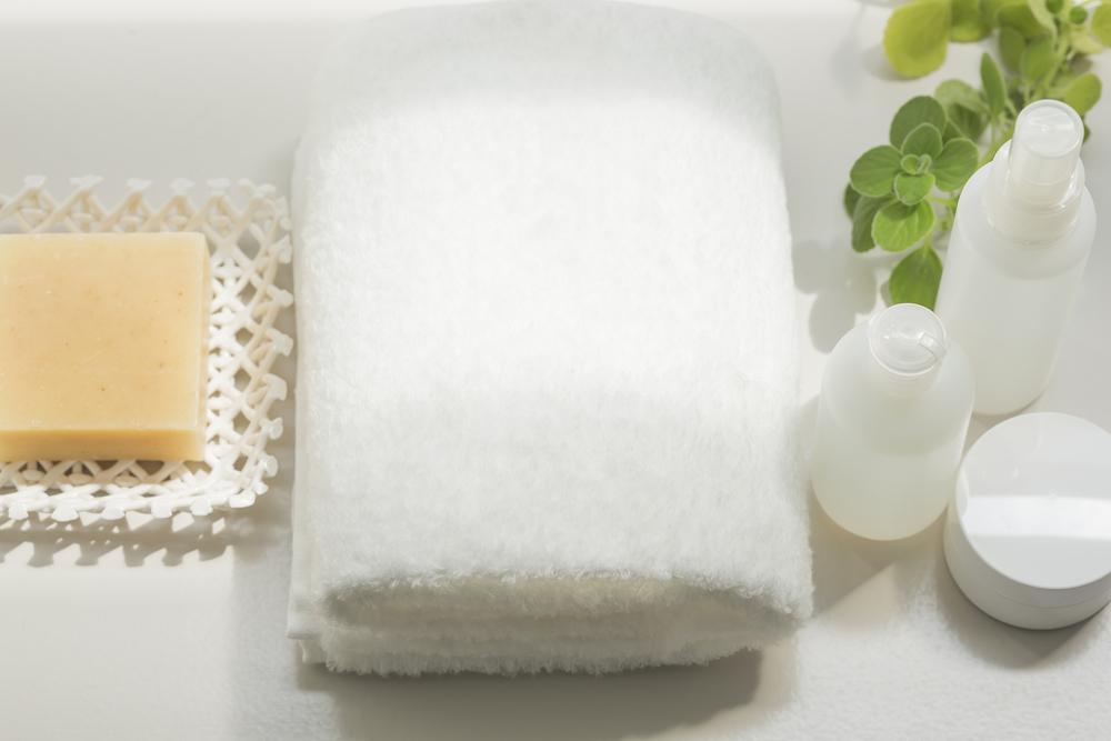 タオルと化粧品