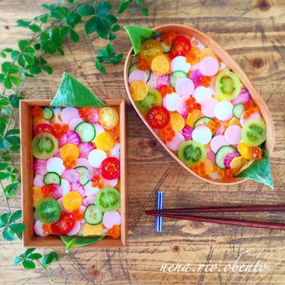 簡単!可愛い♡水玉ちらし寿司のレシピ