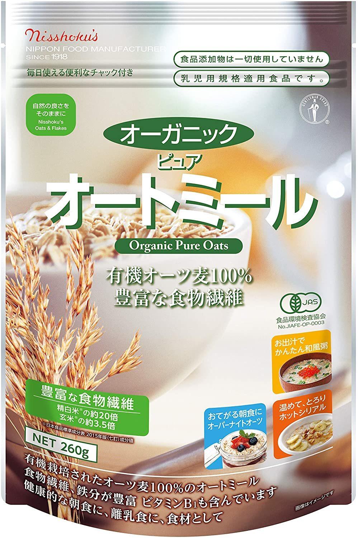 日本食品製造オーガニックピュアオートミール