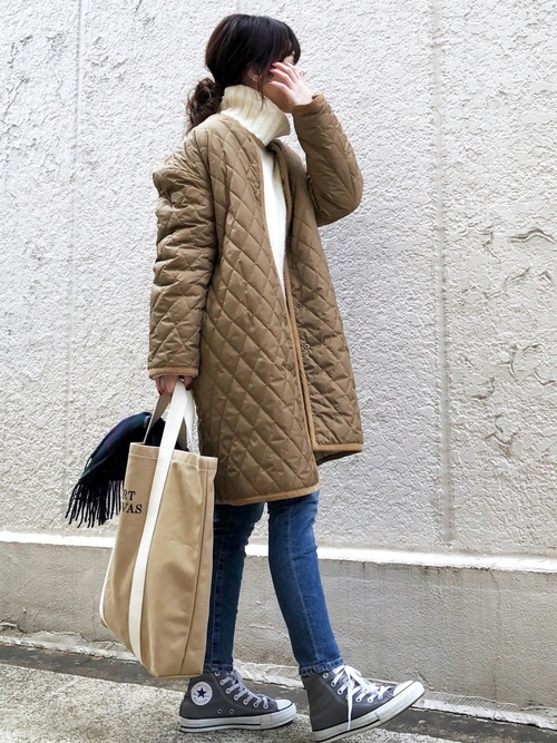 ブラウンコートを使った群馬の服装