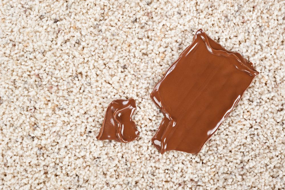 絨毯やカーペットの食べ物の汚れの掃除
