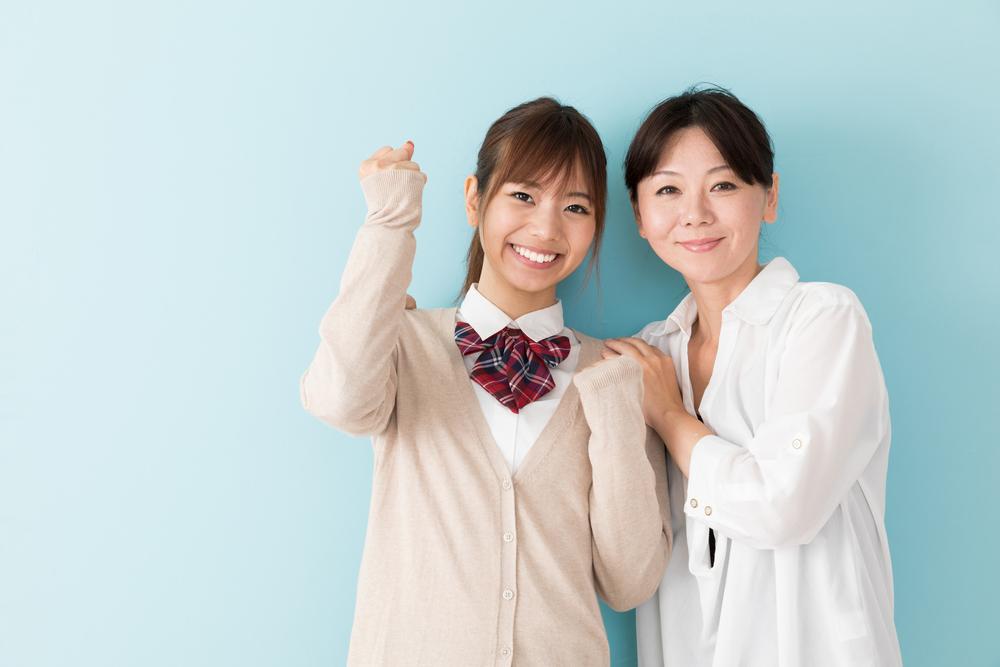 女子高校生とお母さん