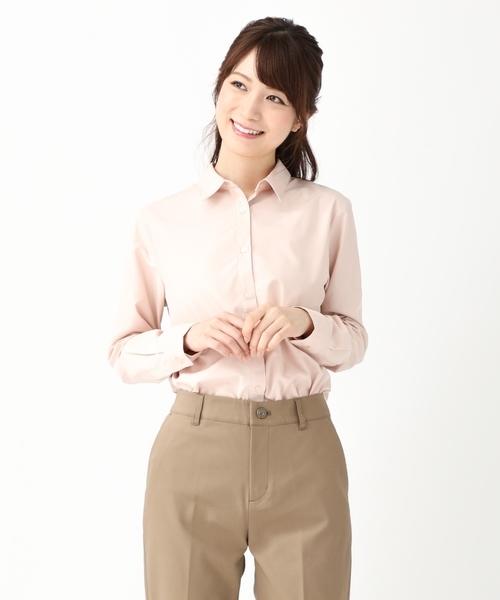 ピンクのレギュラーシャツ