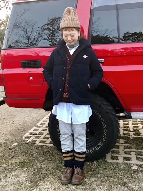 寒い日のキャンプの服装