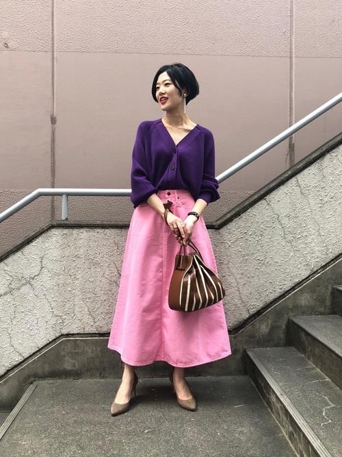 紫×ピンク