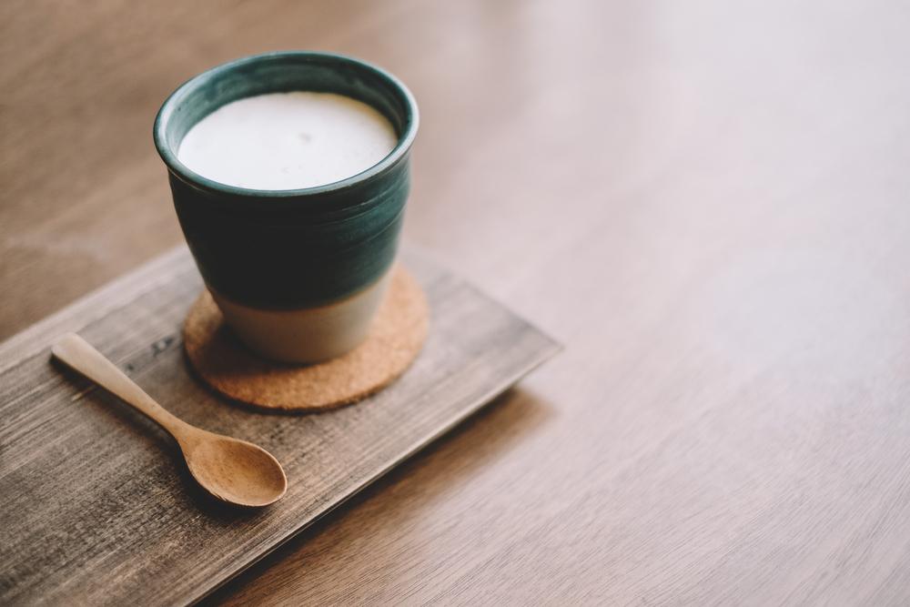 コップに入った豆乳
