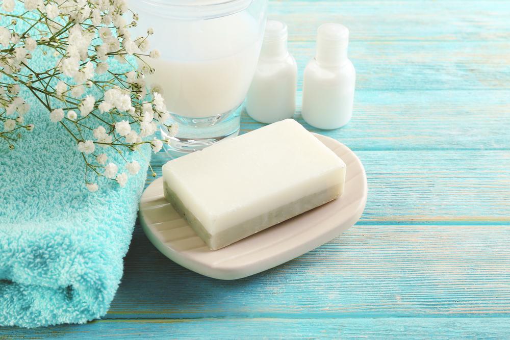 石鹸置きに乗せられている石鹸