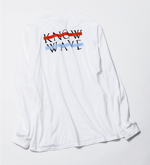 KNOW WAVEのロンT