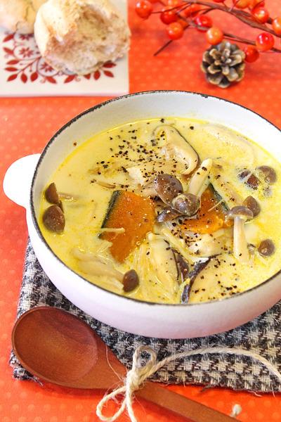 きのこの豆乳スープ